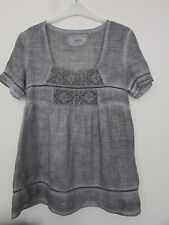 Ladies MALVIN  100% Linen Loose Fitting  Top - Size 12