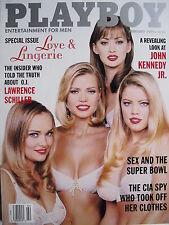 LOVE & LINGERIE  February 1997 Playboy KIMBER WEST  JOHN KENNEDY JR.