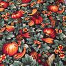 CP11927 Fall Harvest Thanksgiving Gourds & Leaves 100% cotton fabric by the yard