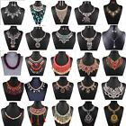 Fashion Womens Jewelry Crystal Statement Bib Chain Chunky Collar Necklace Charm