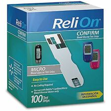 ReliOn Confirm/Micro Blood Glucose Test strips 100 ct USA Seller Fast Shipping