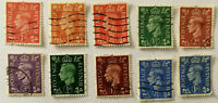 10 x George VI Postage Revenue Stamps 1940's