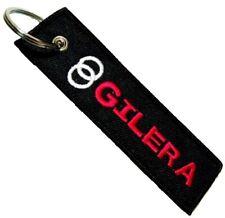 GILERA MOTO RED LOGO Embroidered Stitched Metal Keyring Keychain Motorbike