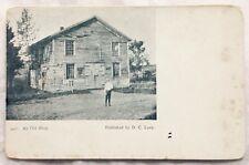 c. 1907 – 1910s LASSELLSVILLE, NY, AN OLD SHOP SCENE, STORE, D. C. LEEK POSTCARD