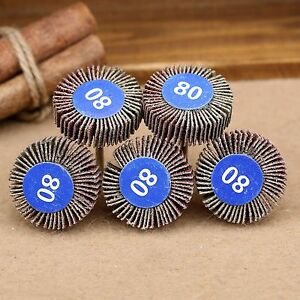 5PCS Sanding Sandpaper Flap Wheel Disc 80# Grit Rotary Power Tools For Grinder