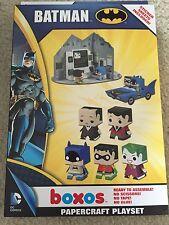 BATMAN DC Comics Boxos Papercraft Activity Playset Funko 2013; MSRP 24.99