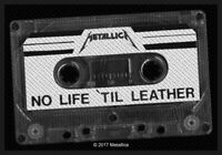 Metallica No Life Til Leather Patch Official Metal Rock Band Merch New