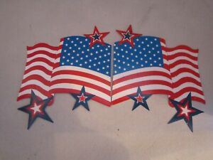 """Screen Saver Door Magnets American Flag & Stars. Magnetic 4"""" square"""