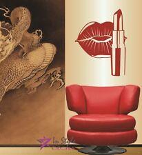 Vinyl Decal Makeup Lipstick Woman Lips Beauty Salon Shop Wall Art Sticker 1475