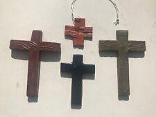 4 Ceramic Mid Century Crucifix Art Pottery Amfora Perignem Vandeweghe Vintage