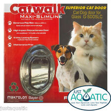 FREE SHIP CATWALK Maxi SLIMLINE Glass Fitting Cat Dog Superior Door Large Clear