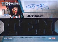 TNA Jeff Hardy 2012 TENacious BLUE Triple Relic Autograph Card SN 16 of 50