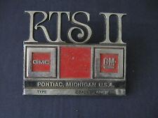 RTS II BUS Emblem Trim Script Metal Badge   Ornament Nameplate Pennant brand