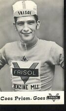 CEES PRIEM Cyclisme 70s Ciclismo FRISOL Cycling wielrennen cycliste real Photo