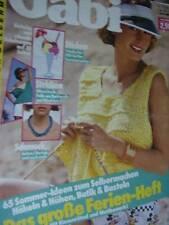Gabi German Knitting & Crochet Magazine #7 July 1984-Embroidery, Adult/Children