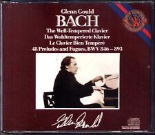 Glenn Gould: Bach temperato pianoforte Book 1+2 CBS 3cd Well-Tempered Clavier