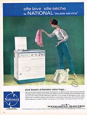 PUBLICITE ADVERTISING   1962   MATSUSHITA  lave linge & séche linge