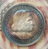 1892 COLUMBIAN COMMEMORATIVE SILVER HALF DOLLAR PCGS MS64 BEAUTIFULLY TONED