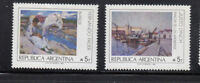 Argentina 1989 Sc 1640-1641 Paintings all mint never hinged