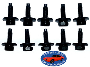 Ford Lincoln Mercury Factory Correct 1/4-20 Bolts With Correct Dog Point 10pcs K