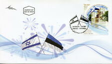 Israel 2018 FDC Diplomatic Relations JIS Estonia 1v Set Cover Flags Stamps