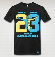 """HALF MAN HALF AMAZING"" 23 T-Shirt to Match Retro 11 ""GAMMA BLUE"""