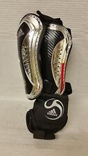 SET OF 2 SMALL ADIDAS ADIPURE CHROME SHIN GUARDS 615794 ~ CLIMACOOL ANKLE GUARD