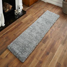 SILVER GREY NEW LARGE MODERN RUNNER HALLWAY RUG - THICK 60x230cm SHAGGY RUGS