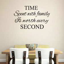 Wall Quotes TIME SPENT WITH FAMILY Wall Sticker Vinyl Wall Art Wall Sticker Pop*