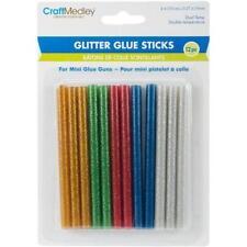 Craft Medley Dual-Temp Mini Glitter Glue Sticks - 7mm x 10cm 12pcs