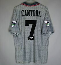 MANCHESTER UNITED 1995 1996 AWAY FOOTBALL SHIRT JERSEY #7 CANTONA UMBRO