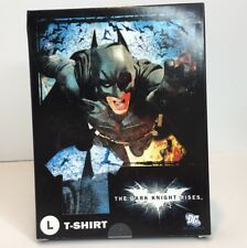 DC WB The Dark Night Rises Men's Size L TShirt NEW In Box Collectible