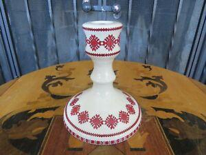 Rare Vintage Ukrainian Arts by K.M. Porcelain Candlestick Candle Holder