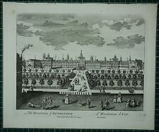 c1750 ANTIQUE LONDON PRINT ~ THE HOSPITAL OF BETHLEHEM BEDLEM