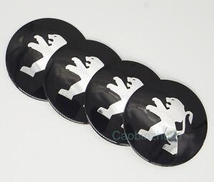4Pcs 56.5mm Car Logo Wheel Center Caps Covers Emblems Stickers For Peugeot