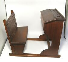 "Rare Vintage 1940's ""Wooden Scool Desk"" for Marilu Doll (The Argentine Bleuette)"