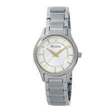 Bulova Women's 96L175 Quartz White Dial Silver-Tone Bracelet 28mm Watch