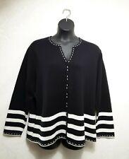 Carolina Colour Plus Cardigan Sweater Black Button Down Women's  Plus 18/20 NWOT