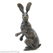 "Sue Maclaurin ""Alert Hare Maquette"" Solid Bronze Sculpture by Nelson & Forbes"