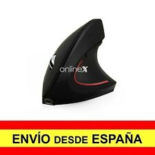 Ratón Óptico Ergonómico Inalambrico de Color Negro Configurable 1600 Dpi. a2777