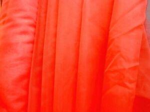 SHEER ORGANZA VOILE BURNT ORANGE  FABRIC MATERIAL 150 cm Wide
