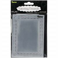 Darice Photo Frame Embossing Template, Transparent, 10.8 x 14.6cm - Folder