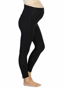 Maternity Foldable Waist 7/8 length Tight Legging - Black