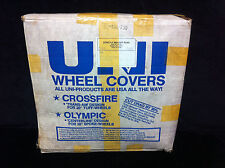 Rare NOS White & Green UNI CROSSFIRE WHEEL COVERS Old School BMX Hutch Haro Dyno