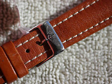 GENUINE BREITLING TAN CALF WATCH STRAP 15 MM INCLUDING BREITLING BUCKLE