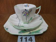 Vintage Shelley BALLOON TREE - Queen Anne Shape Tea Trio - Cup / Saucer / Plate