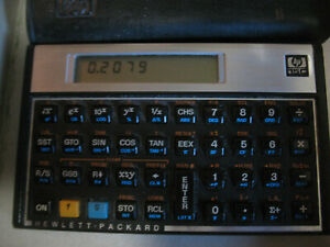 Hewlett Packard HP-15C Scientific Engineering Calculator With Case - Working