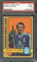 1972-73 O-PEE-CHEE #147 NORM ULLMAN PSA 9 MAPLE LEAFS  *CG2991