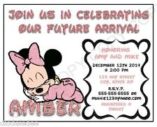 Minnie Mouse Baby Shower Invitation Personalize PRINTABLES YOU PRINT CHANGES OK