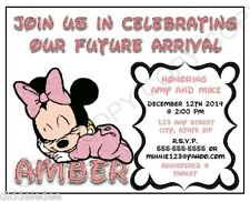 Disney Baby Shower Minnie Mouse Greeting Cards Invitations eBay